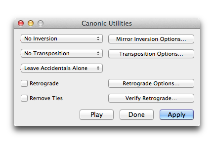 Canonic Utilities Plug In