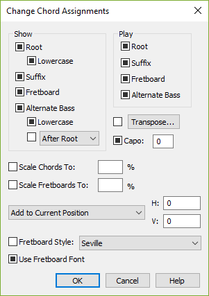 Change Chord Assignments dialog box